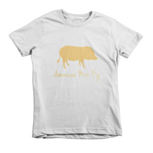 Gold Pig Short sleeve kids t-shirt