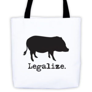 Legalize Mini Pig Tote bag