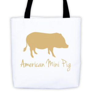 Gold Pig Tote bag
