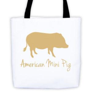 Gold Pig Tote bag