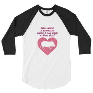 Who Needs a Boyfriend 3/4 sleeve raglan shirt