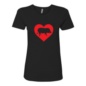 I Heart Pig Women's t-shirt