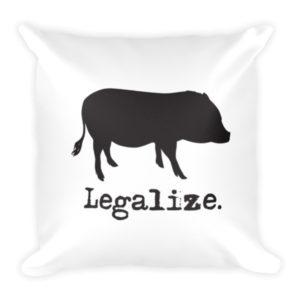 Legalize Mini Pigs Pillow
