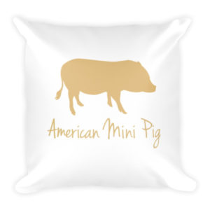 Gold Pig Pillow