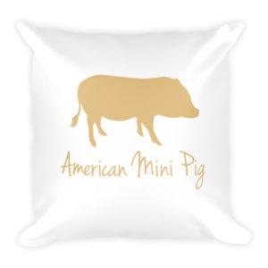 Gold Pig Pillow