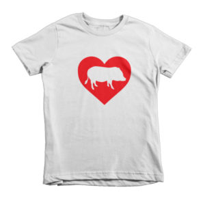 I Heart Pigs Short sleeve kids t-shirt