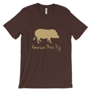 American Mini Pig Unisex short sleeve t-shirt