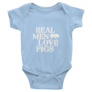 Real Men Love Pigs Infant short sleeve one-piece