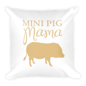Mini Pig Mama Pillow