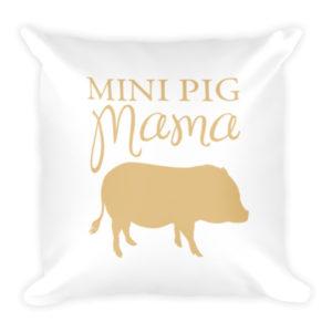 Mini Pig Mama Pillow