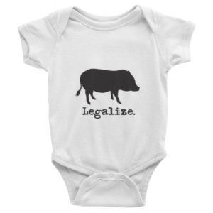 Legalize Mini Pigs Infant short sleeve one-piece