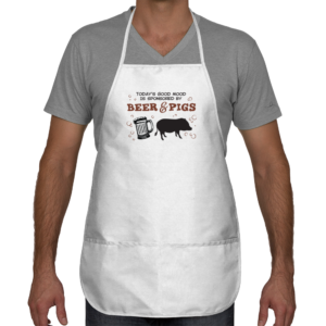 Beer and pigs apron
