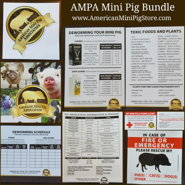 ampa mini pig bundle, mini pig deworming