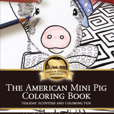 mini pig coloring book