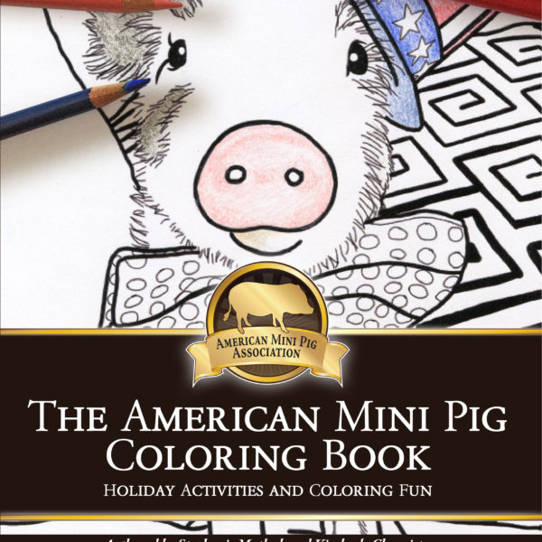 mini pig coloring book