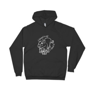 I Kissed a Pig fitted Hoodie