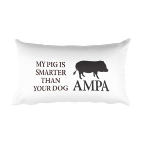 My Pig is Smarter Rectangular Pillow