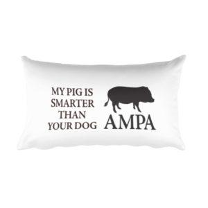 My Pig is Smarter Rectangular Pillow