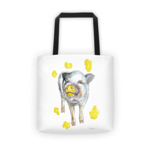 Painting Pig Rescue Fundraising Tote bag