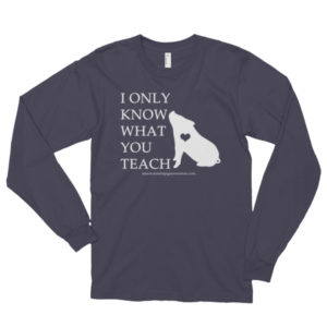 I Only Know What You Teach Long sleeve t-shirt (unisex)