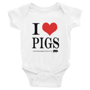 I Love Pigs Infant short sleeve one-piece