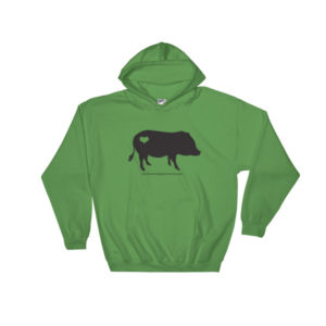 Black AMPA Pig Hooded Sweatshirt