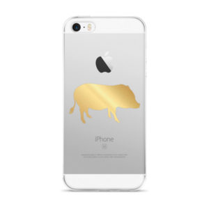 Gold Pig iPhone 5/5s/Se, 6/6s, 6/6s Plus Case