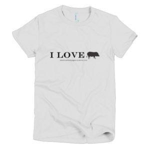 I Love Short sleeve women's t-shirt