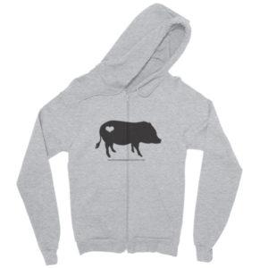 Black AMPA Pig Zip hoodie
