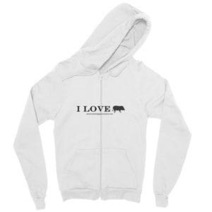 I Love Zip hoodie