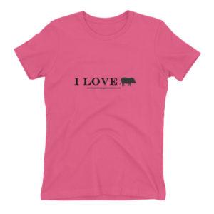 Women's fitted boyfriend t-shirt