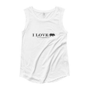 I Love Ladies' Cap Sleeve T-Shirt