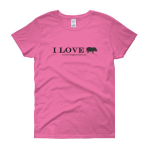 I Love Women's short sleeve t-shirt