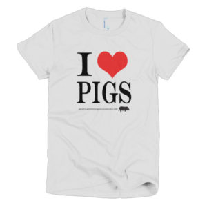 I Love Pigs Short sleeve women's t-shirt