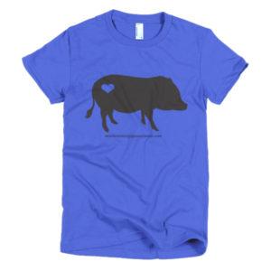 Black Pig Short sleeve women's t-shirt