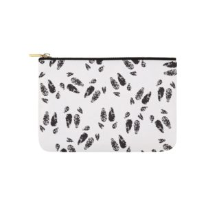 "Black Hoof Print Carry All Carry-All Pouch 9.5""x 6"""