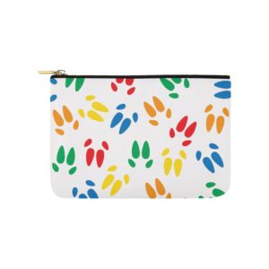 "Color Hoof Print Carry All Carry-All Pouch 9.5""x 6"""