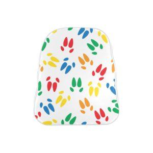 Color Hoof Print Backpack School Bag (Model 1601) (Small)