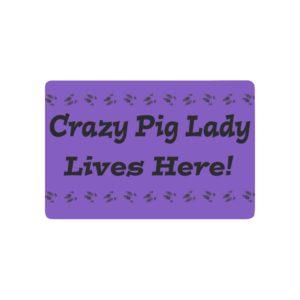 "Crazy Pig Lady Doormat Doormat 23.6"" x 15.7"""