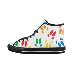 Colored Hoof Prints High Tops Vancouver High Top Women's Canvas Shoes (Model1013-1)