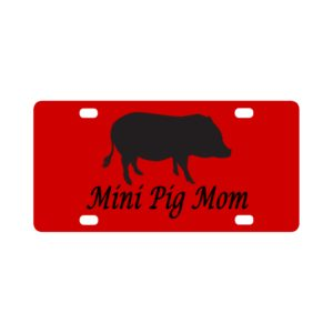 Mini Pig Mom  Classic License Plate