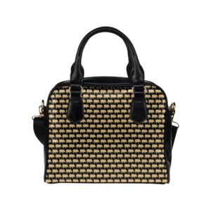 Gold Pig Shoulder Handbag