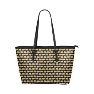 Gold Pig Leather Tote Bag (Big)