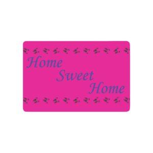 Home Sweet Home Blue/Pink Doormat