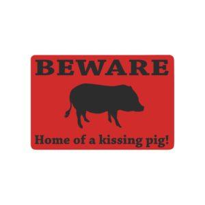 """Home of Kissing Pig Doormat Doormat 23.6"""" x 15.7"""""""
