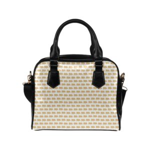Gold Pig White Handbag Shoulder Handbag (Model 1634)