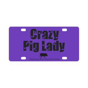 Crazy Pig Lady Classic License Plate