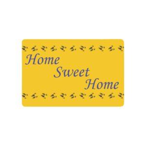 """Home Sweet Home Blue/Yellow Doormat 23.6"""" x 15.7"""""""