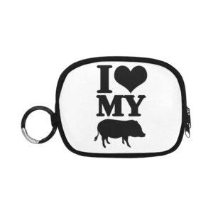 I Love My Pig Custom Coin Purse