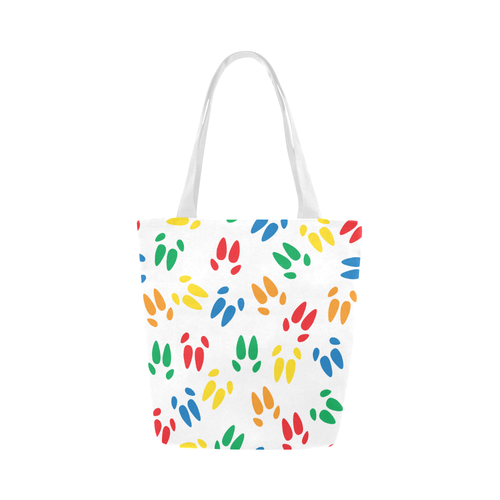 color hoof print tote canvas tote bag model1657 american mini